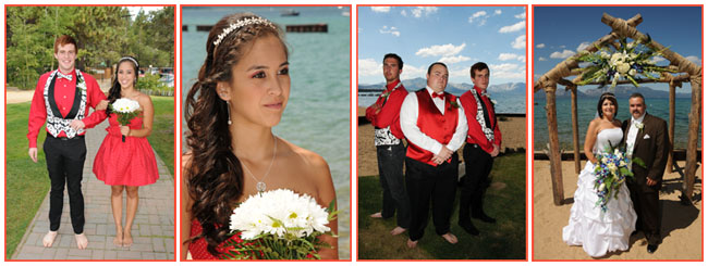 Various poses of the groom, groomsmen, bride and bridesmaid