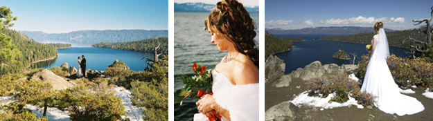 Regan Beach and Emerald Bay ceremony locations