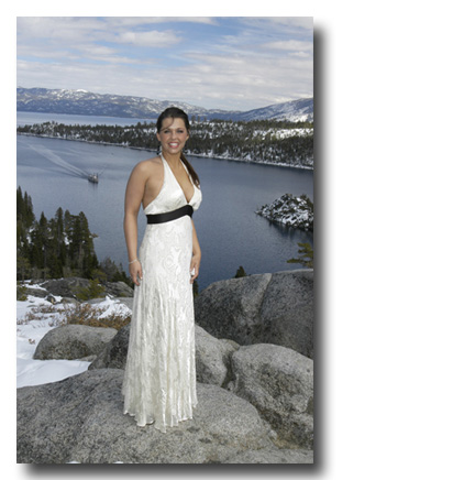 Emerald Bay Falls bride