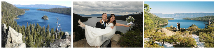 Photos of our Emerald Bay wedding venue