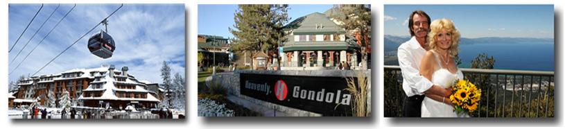 Scenes of the gondola base and wedding area