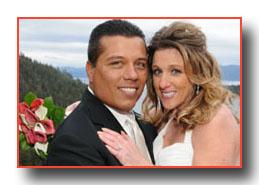 Jennifer and Robert say thank you to Alpenglow Weddings