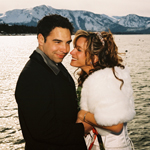 Beach wedding in South Lake Tahoe