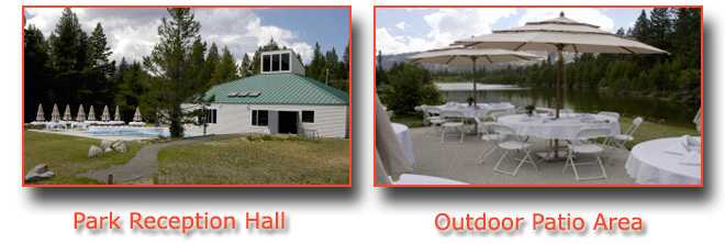 The recreation hall is available for receptions
