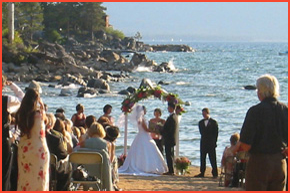 A Wedding On The Beach At Round Hill Pines In Lake Tahoe