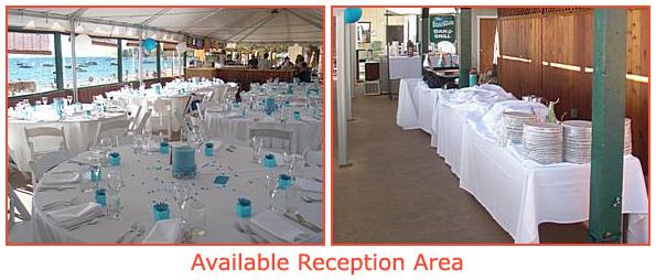 The outdoor reception area
