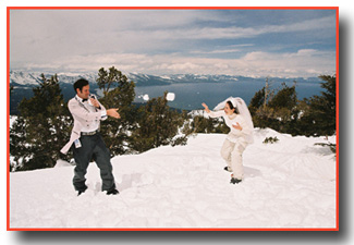 Heavenly Mountain Ski Wedding