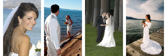 Various wedding locations situated around Lake Tahoe