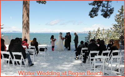 A Winter Wedding At Regan Beach Park In Lake Tahoe