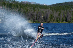 Water skiing is great summer fun in Tahoe