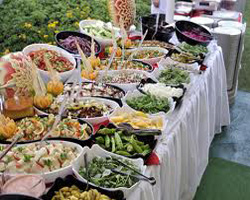 Display of the salad bar